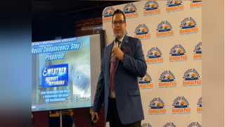 Juan Acuña speaks to Hurricane Preparedness Breakfast