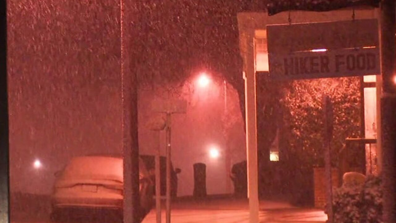 Heavy rain, snow douse San Diego region