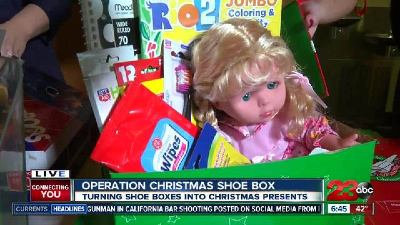 Local churches host Operation Christmas Child Shoe Boxes