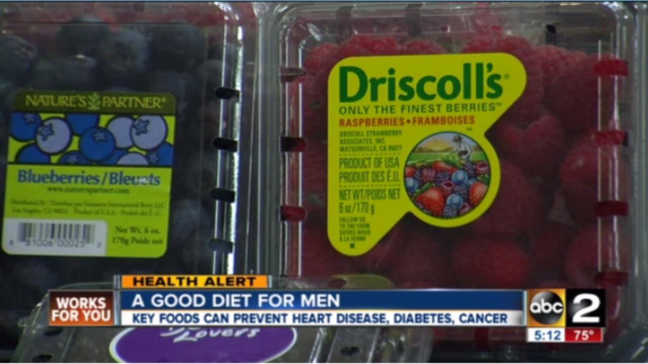 Key foods can help men avoid certain diseases