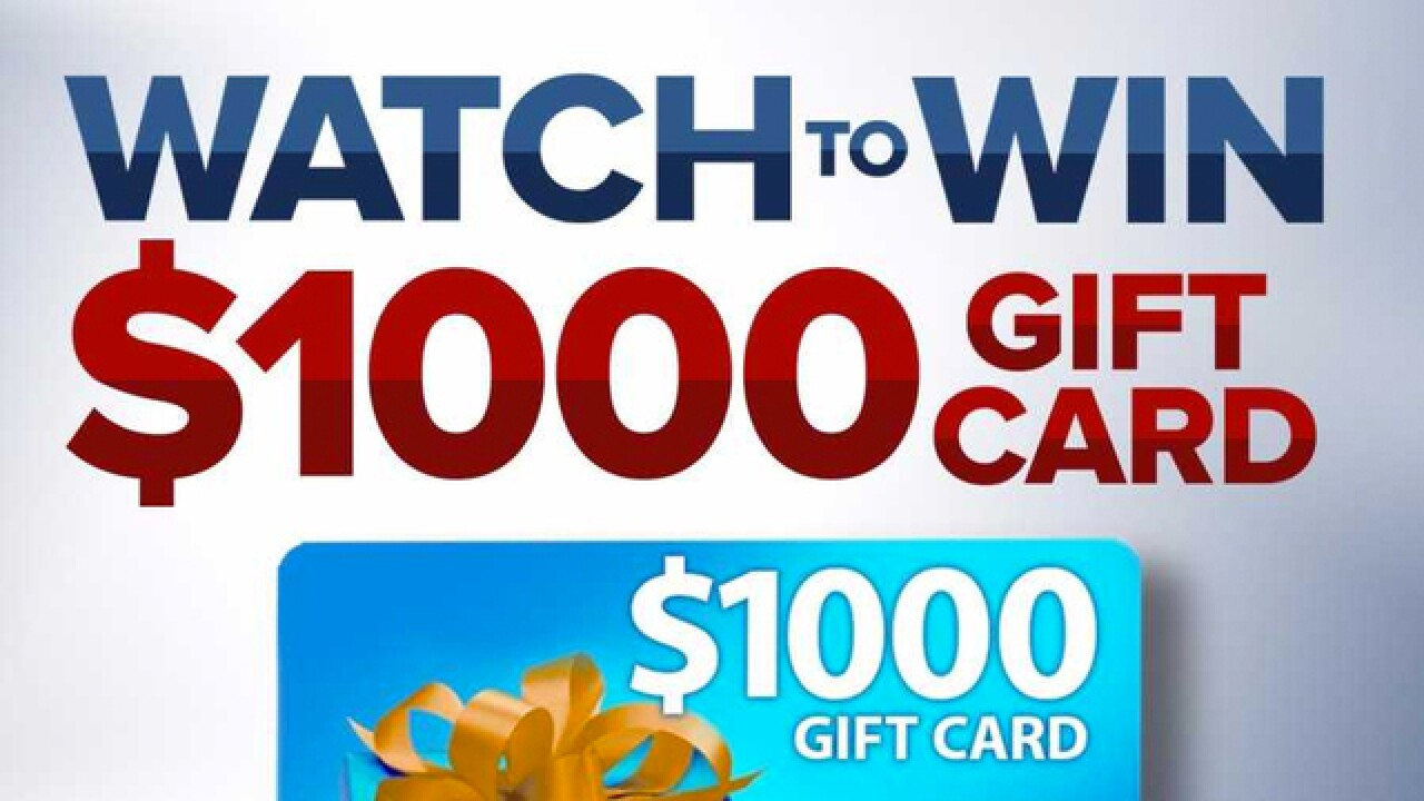 1000 Cash Gift Card Giveaway Rules