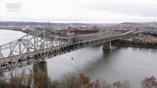 Burnt Brent Spence Bridge