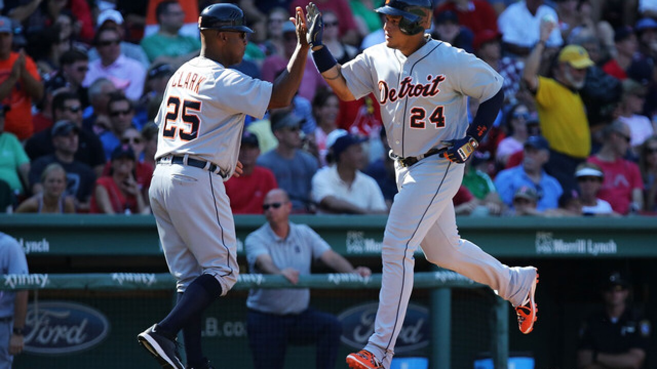 I Was Swept By Real Blast From Past >> Miguel Cabrera S Ninth Inning Blast Boosts Tigers In Sweep Of Red Sox