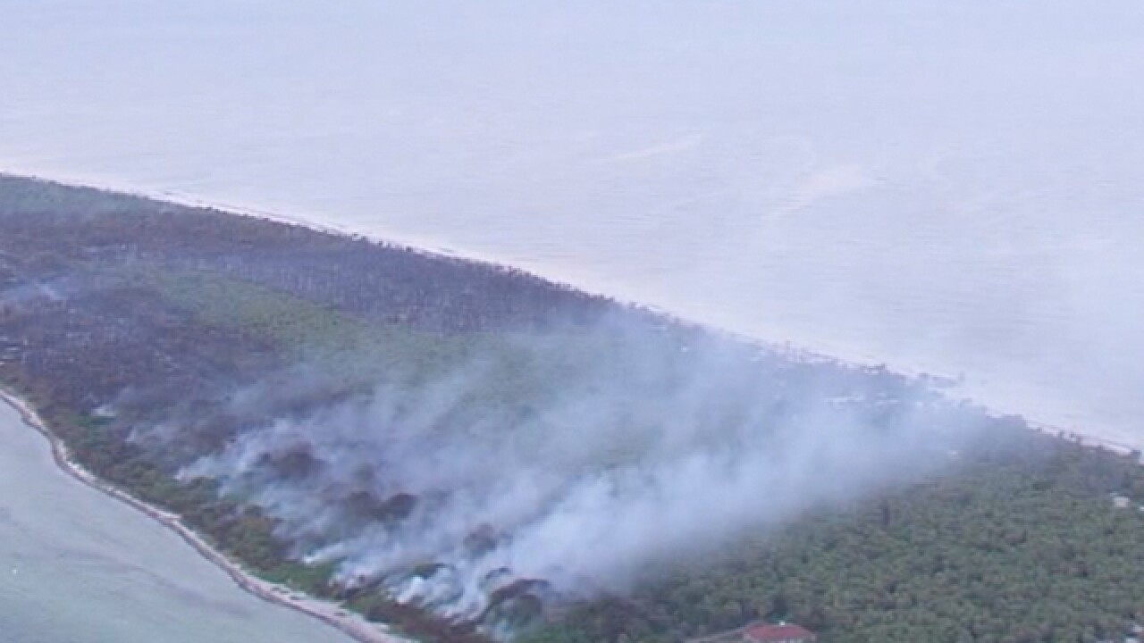 WATCH: Wildfire burns a Florida Key