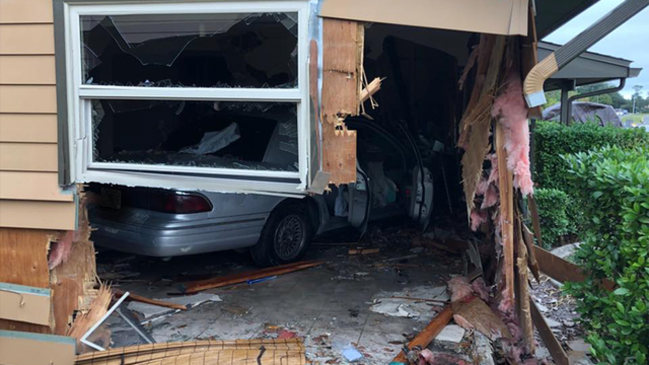 Woman crashes vehicle into Spring Hill home following medical episode
