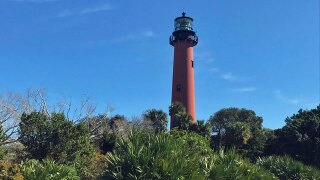 Restoration work underway on Jupiter Lighthouse