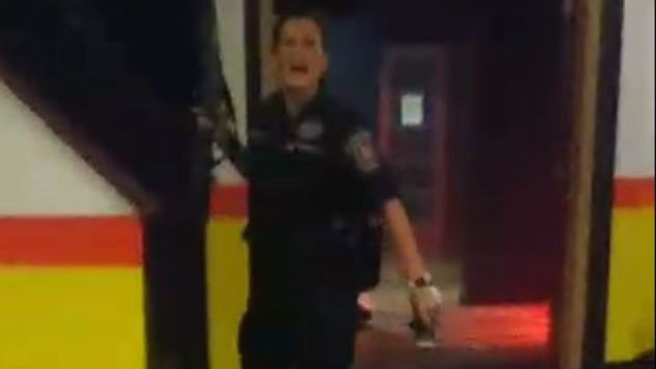 Video shows IMPD officer spraying tear gas