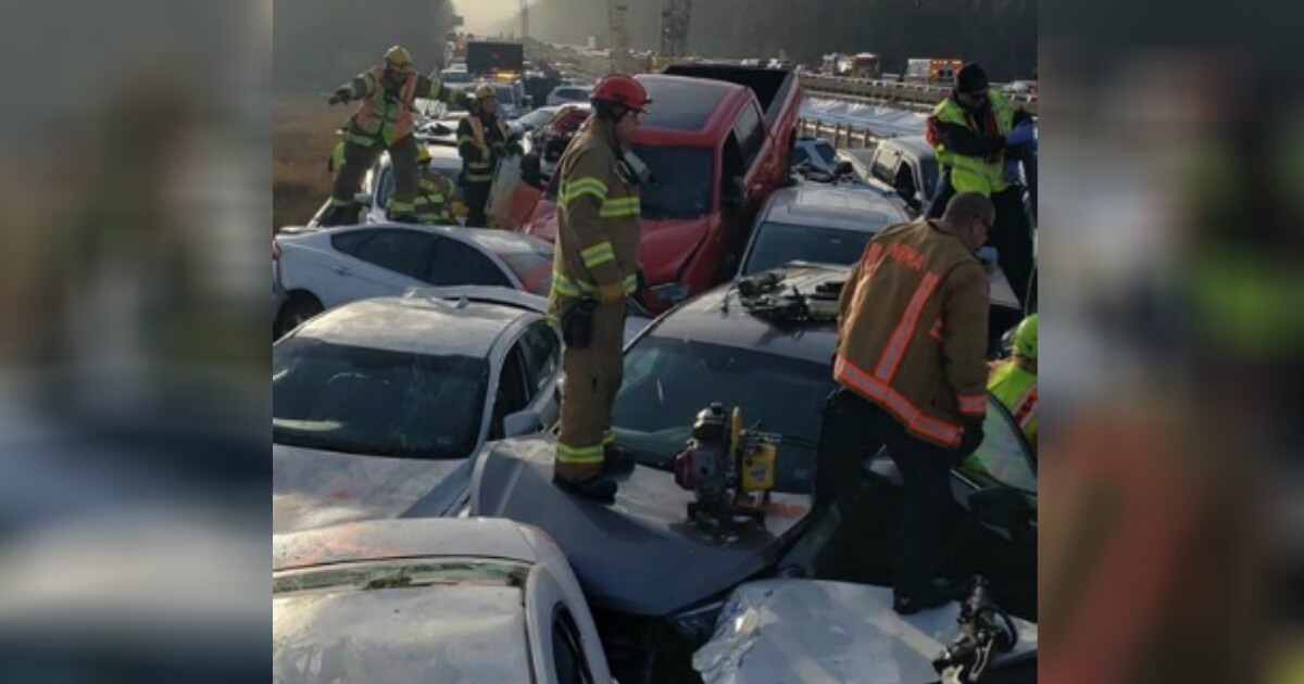 Photos: State police reveal what caused 'apocalyptic' 75-car pileup on I-64