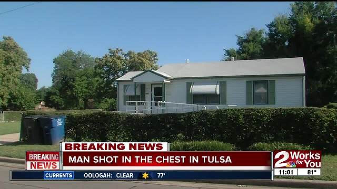 Police: Man shot on north Tulsa porch