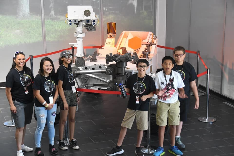 Browning Moon Dancers Robotics Team visiting NASA's Jet Propulsion Laboratory