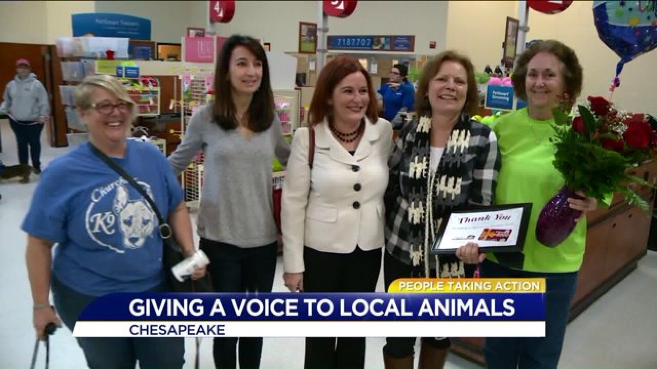 People Taking Action: local woman gives a voice to abandonedpets!