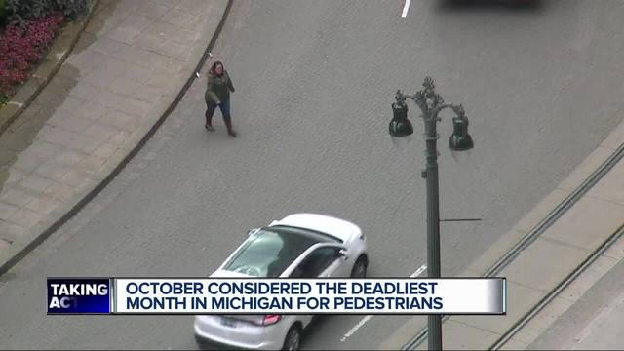 October spells danger for pedestrians in MI