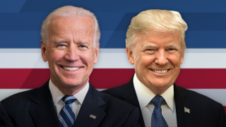 Joe Biden and President Trump