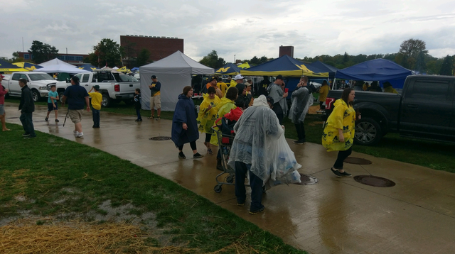 GALLERY: Even a rainy day couldn't wash the Michigan spirit away