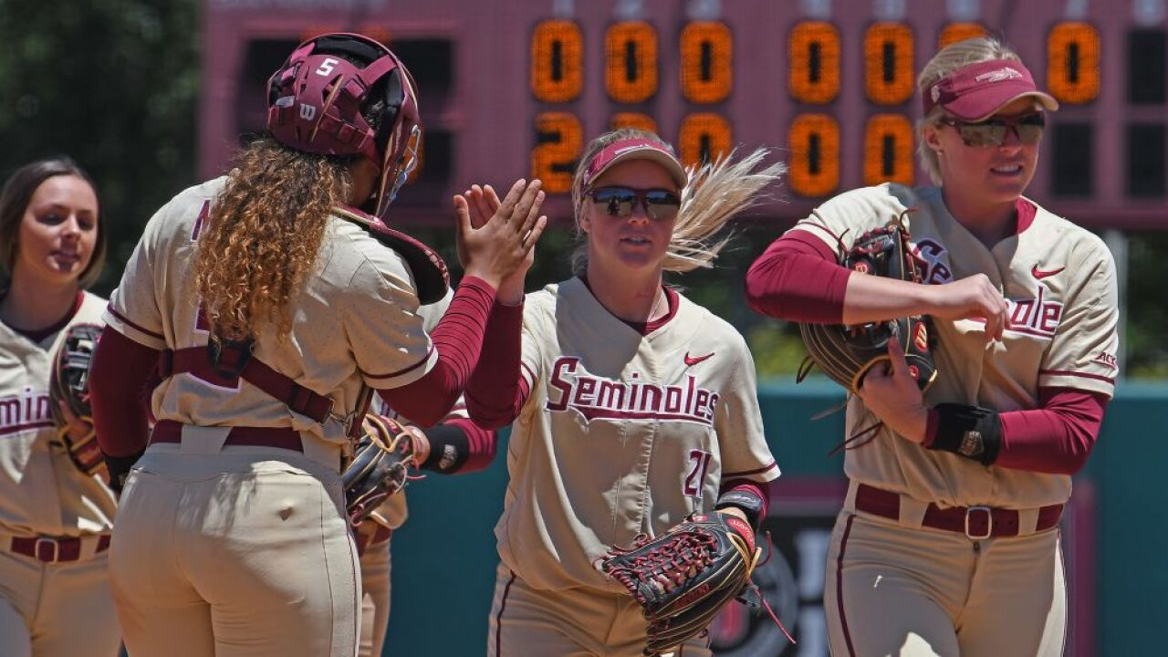 Softball Blanks Duke, 8-0