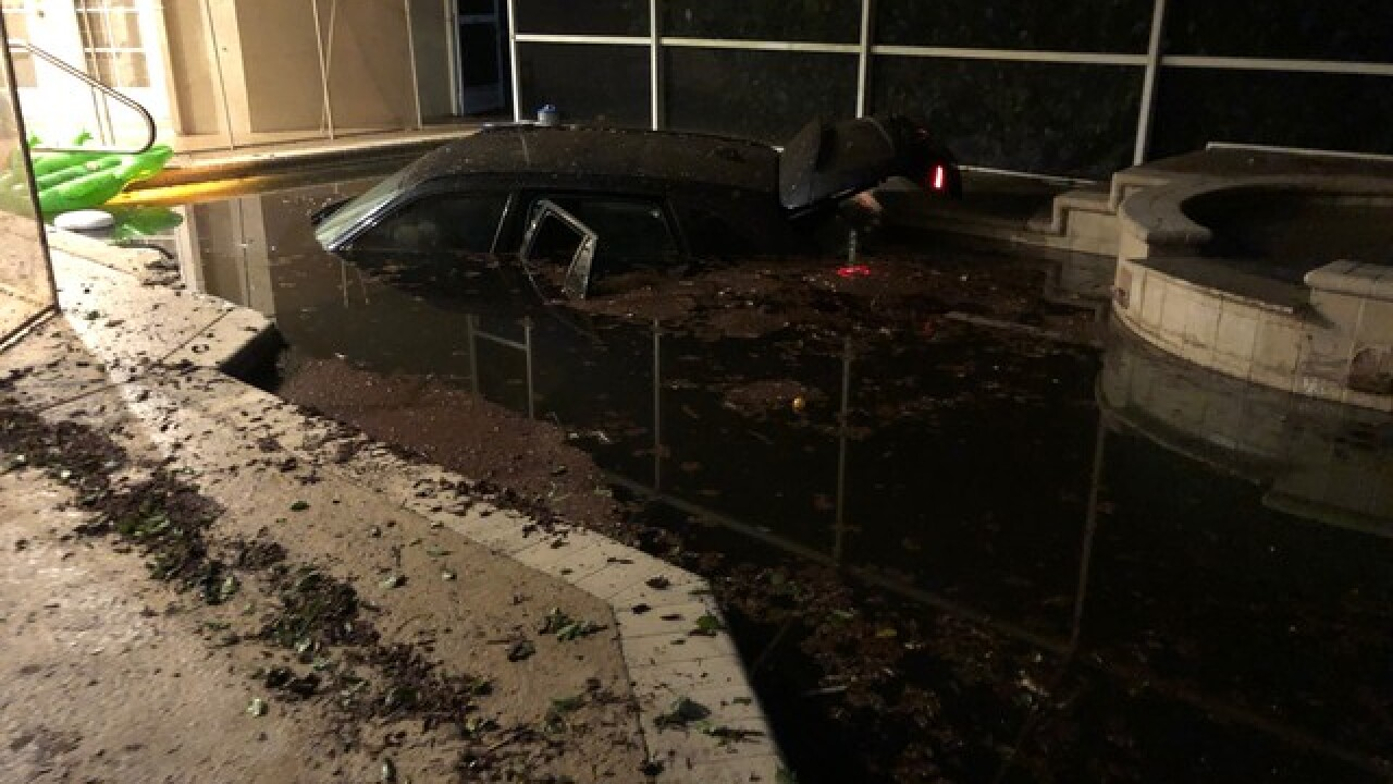 Palm Beach County family wants protection after car crashes into their pool on New Year's