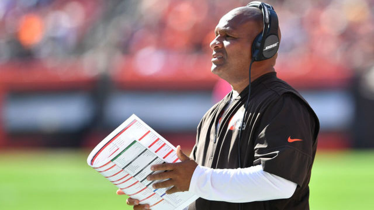 Hue Jackson finally makes good on his promise, sets a date to jump in the lake