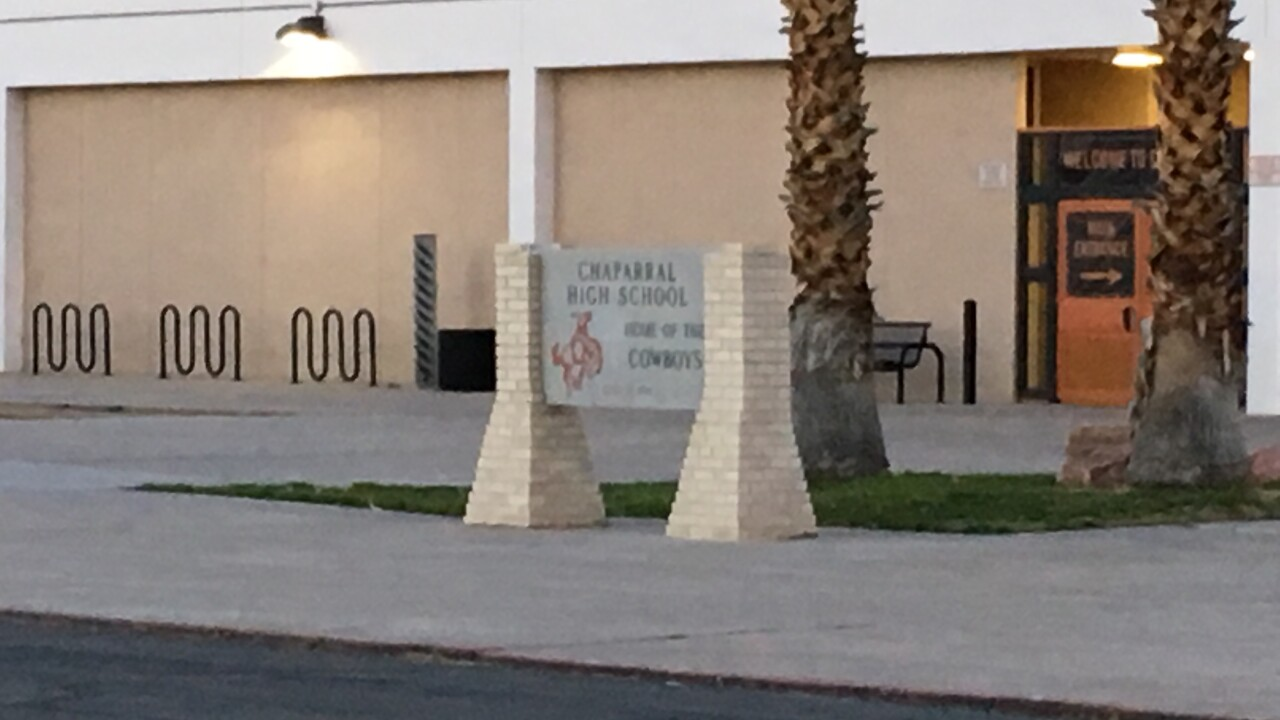 An former employee at Chaparral High School has been arrested on alleged sexual misconduct charges with two students
