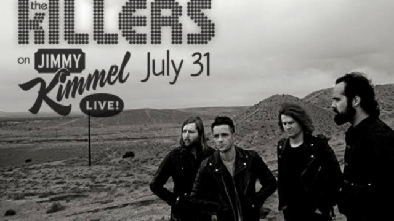 The Killers performing pop-up concert on Strip