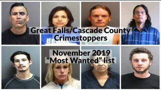 """Great Falls/Cascade County Crimestoppers: November 2019 """"Most Wanted"""""""