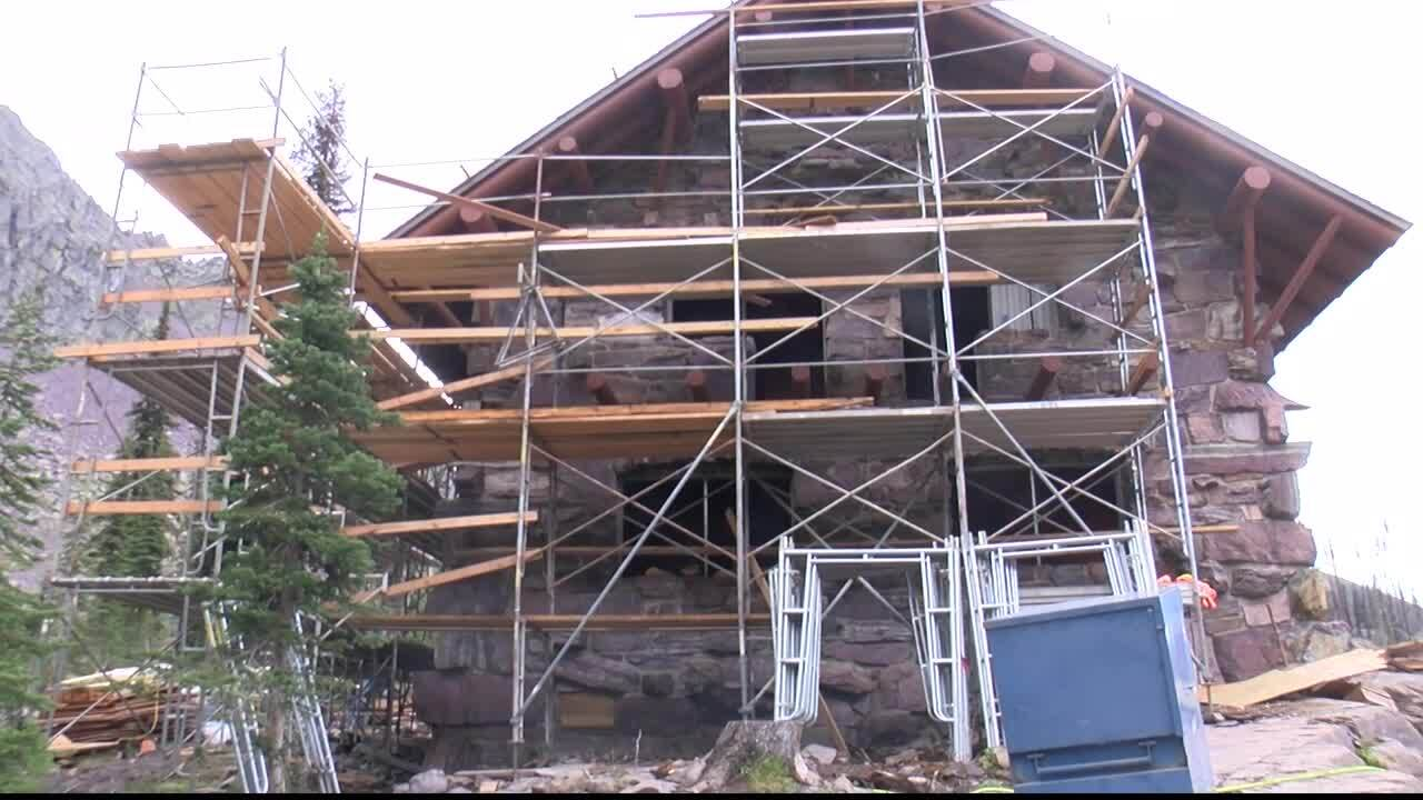 Reconstruction of historic Sperry Chalet complete