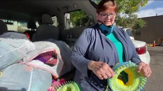 Denver7 Everyday Hero knits hats, spreads warmth to the needy_Barbara Lambright