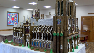 Church members honor Notre Dame with gingerbread replica