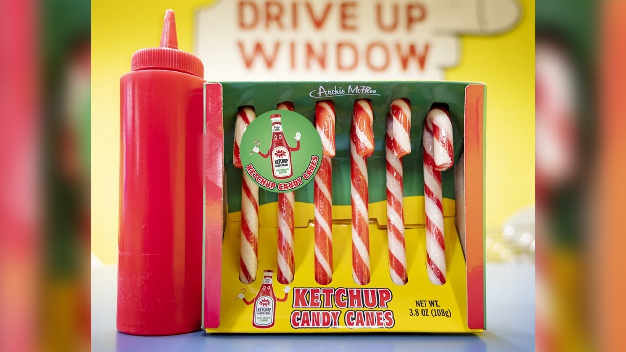 Store selling ketchup-flavored candy canes