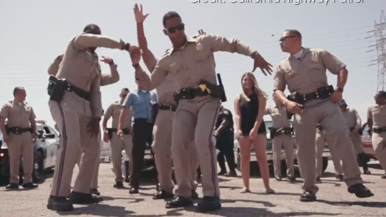 California Highway Patrol takes on 'lip sync challenge' in six-minute music video