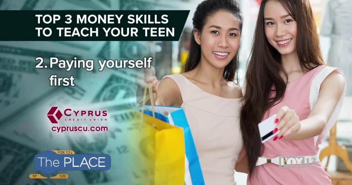 Εδώ είναι οι τρεις κορυφαίες δεξιότητες χρημάτων για να διδάξετε τον έφηβο σας