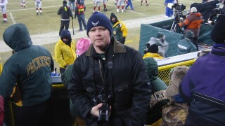 Bob Parker at Packers vs Giants NFC Championship game