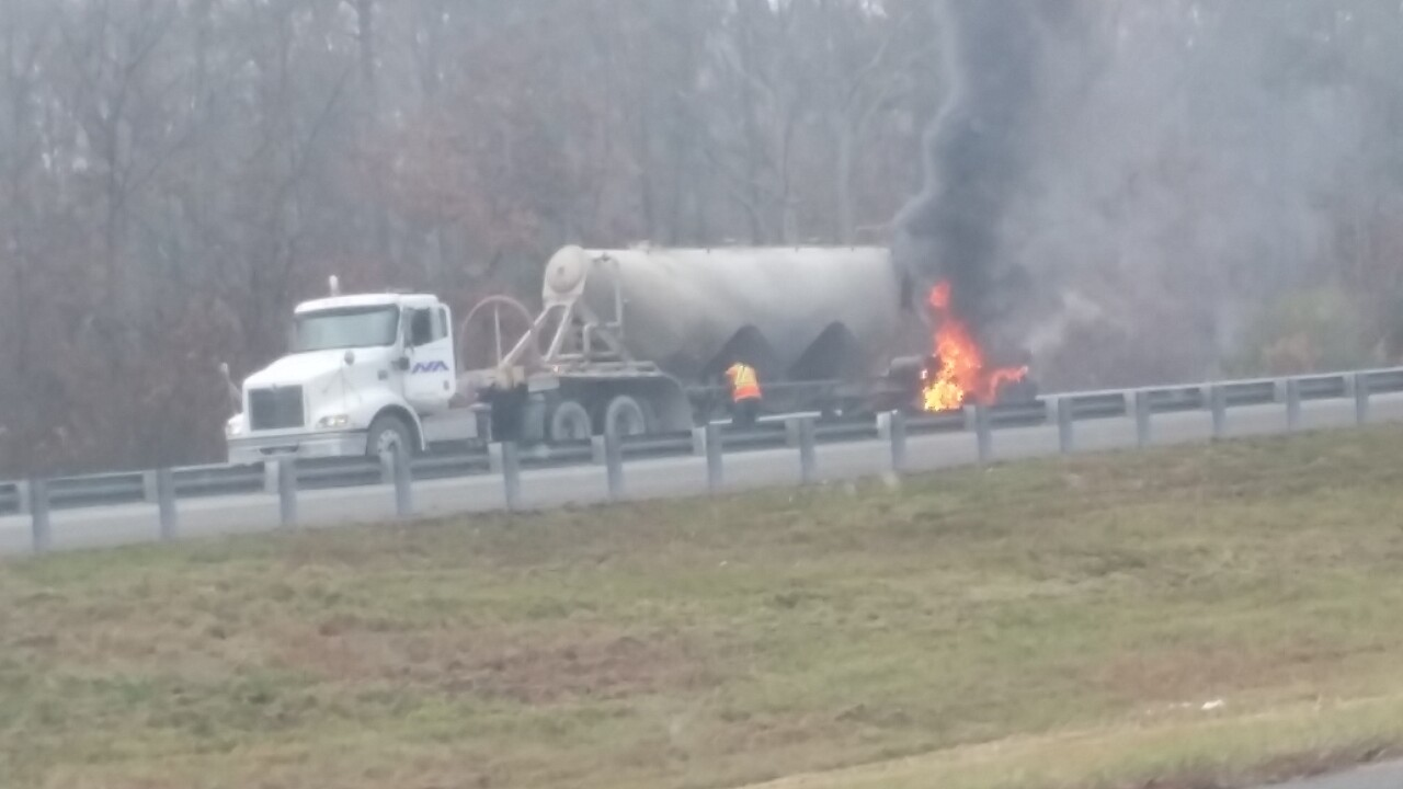 I-64 west in Goochland back open after vehicle fire