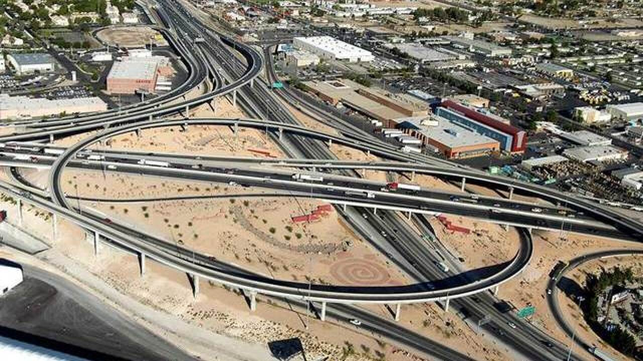 Ramp in Spaghetti Bowl in downtown Las Vegas to be closed overnight