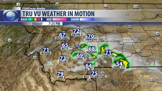 Warmer with afternoon t-storms for Friday