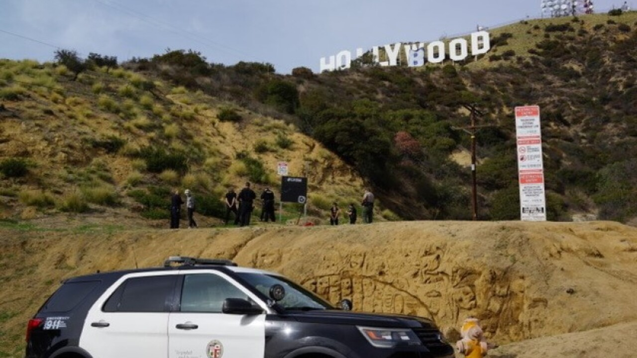 Hollywood sign changed to 'HOLLYBOOB'