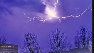 Lightning Over The Plaza Last Night