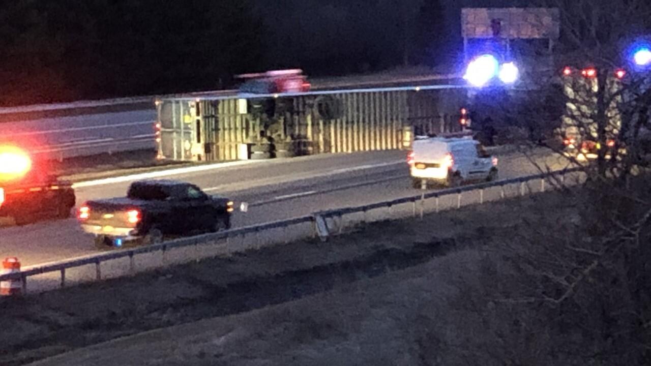 Tractor-trailer crash snarls morning traffic on I-90EB