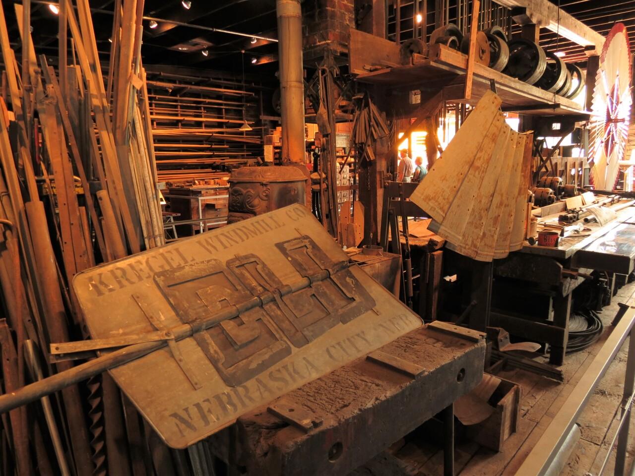 A look inside the Kregel Windmill Factory Museum's assembly area..JPG