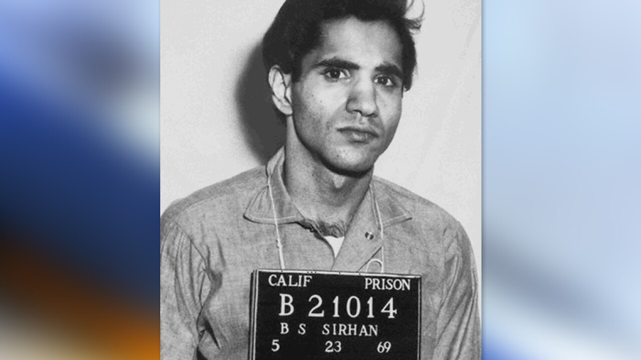 Report: Sirhan Sirhan stabbed at Southern California prison