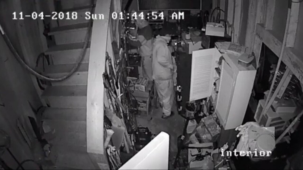 Harford County Police looking for 2 burglars caught on camera in Joppa