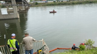 "Crews working to clean up ""film"" on the Missouri River"