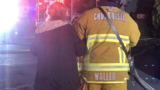 grandma saves neighbor from fire