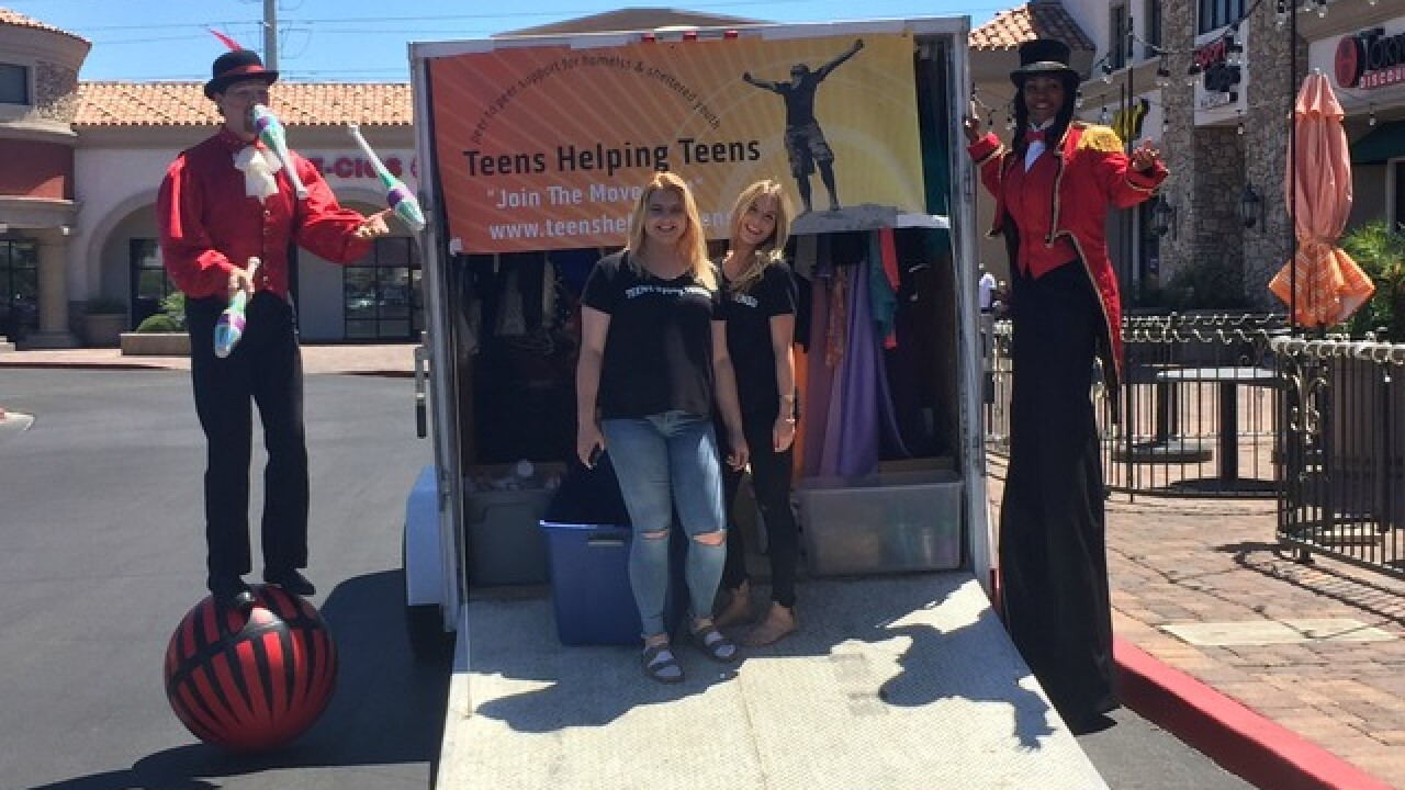 Nonprofit gathering supplies for homeless teens