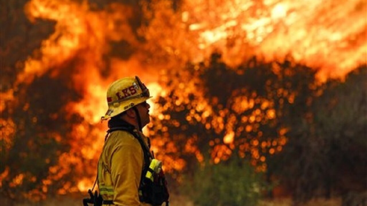 Photos: Wildfires force Los Angeles evacuations