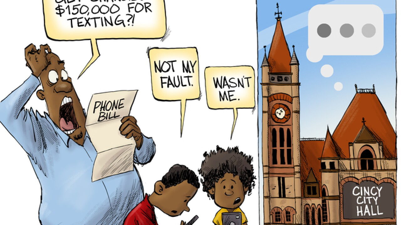 EDITORIAL CARTOON: Standard messaging rates may apply