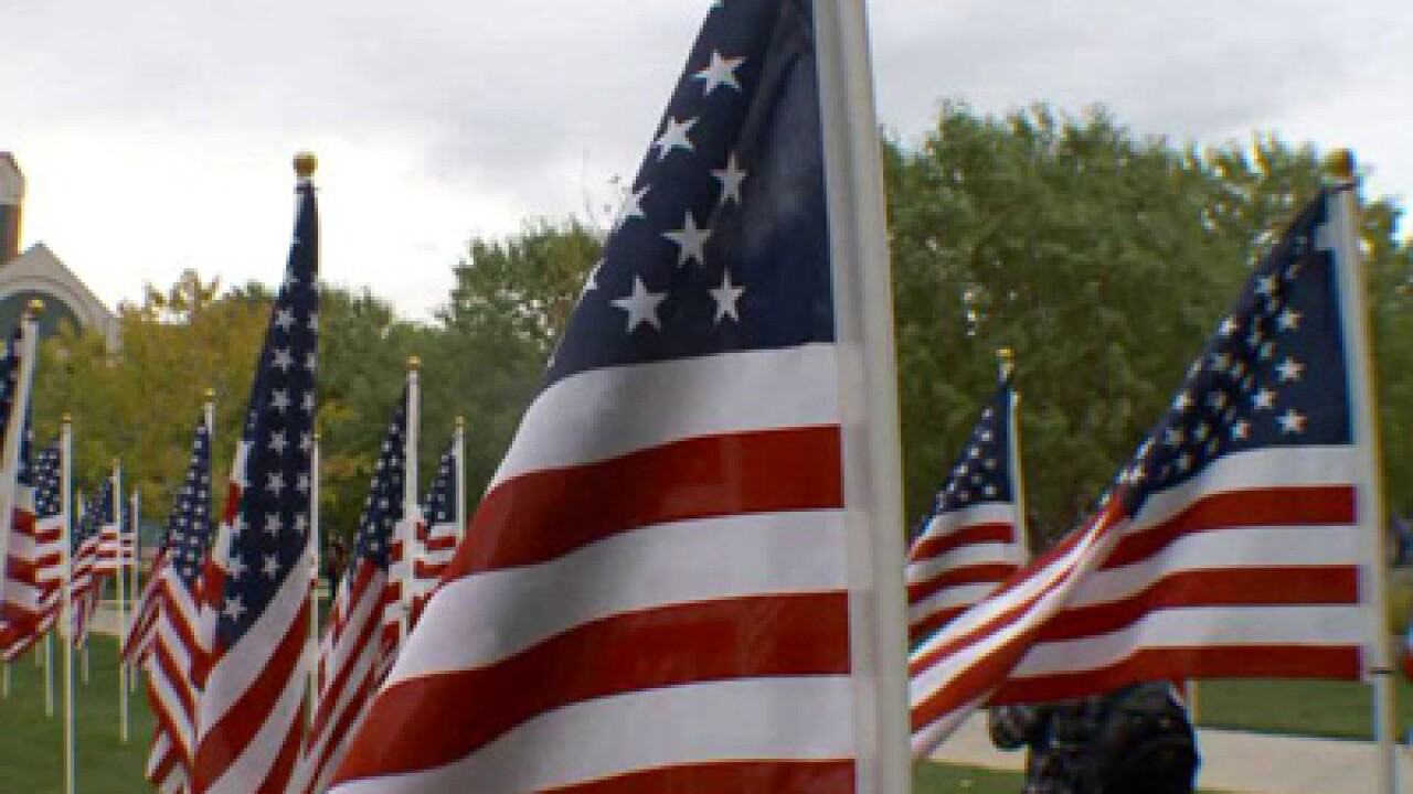 Flags commemorate 9/11 victims in Sandy