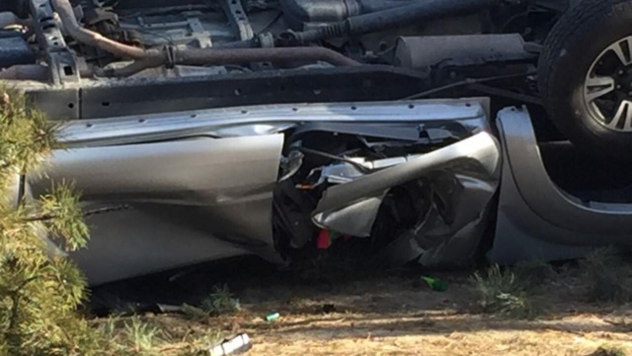 Man injured after vehicle veers off I-84