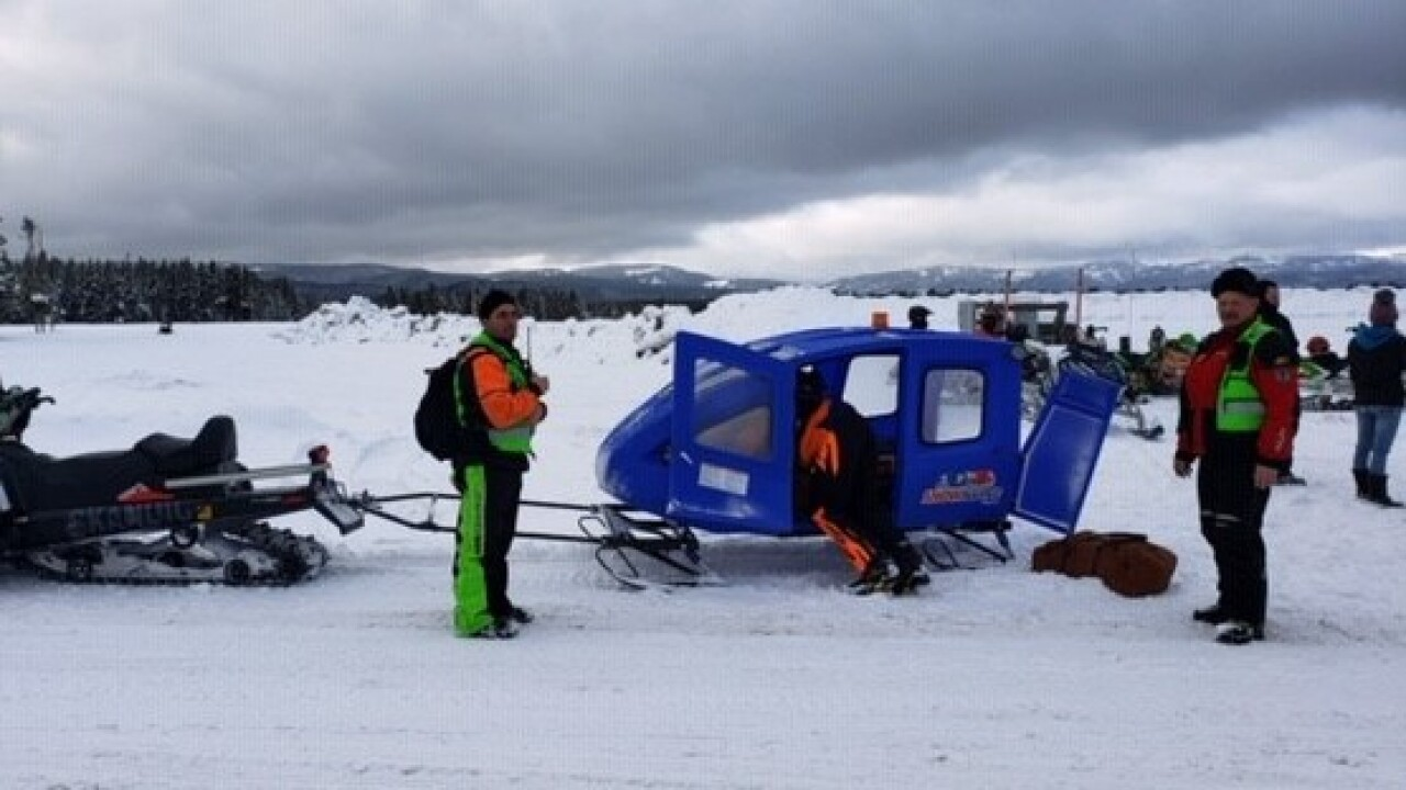 Girl Injured On Snowmobile Near West Yellowstone