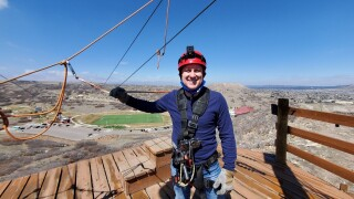 Alan Ziplining - Castle Rock