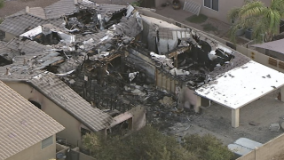 Plane crashes into Gilbert home, September 2016